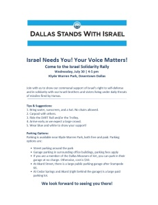 Israel Rally Flyer